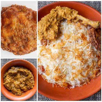 Shahi Polao + Chicken Roast + Beef Rezala + Jali Kabab