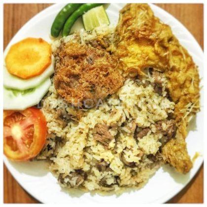 special beef tehari + Chicken Roast + Jali Kabab