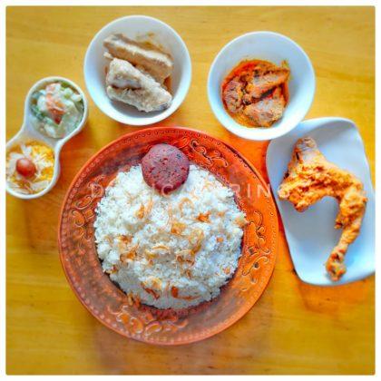 Polao+Roast+Beef Rezala+Chicken Korma+Tikia+Vegetable MalaiKari+Jorda